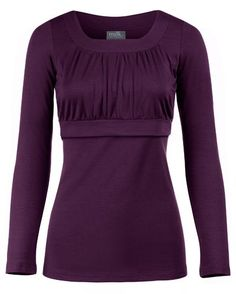 Amazon.com: Empire Scoop Neck Essential Nursing Top - Long Sleeves (Medium, Purple): Clothing