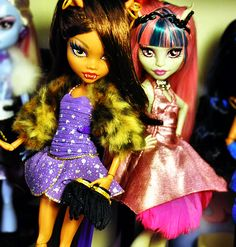 Clawdeen Wolf and Rochelle Goyle