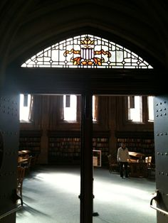 Entrance to reading room in Suzzallo Library