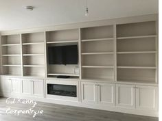 Bespoke TV unit with Intergrated electric fire Carpentry Services, Electric Fires, Tv Units, Bespoke Furniture, Cabinets, Building, Home Decor, Custom Furniture, Resurfacing Cabinets