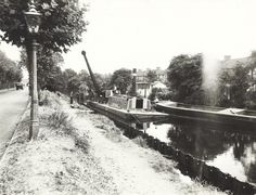 "Caption: ""Piling work at Norwood on the Grand Union Canal"" Birmingham Canal, London Pictures, Canal Boat, Narrowboat, Long Distance, British, Boating, Caption, Water"
