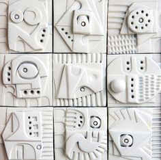 Terracotta Wall Sculpture by Ron Hitchens 3