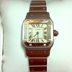 Ladies Stainless Steel Cartier Santos Watch! Ladies Stainless Steel Cartier Santos watch in very good condition. Retails for $3500, selling for $2,000 Cartier Jewelry