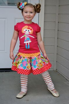 Bellaloopsy  Friend Shirt and Skirt Set by sherunslikeagirl, $52.00