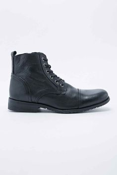 Selected Homme Tyler Leather Boots in Black