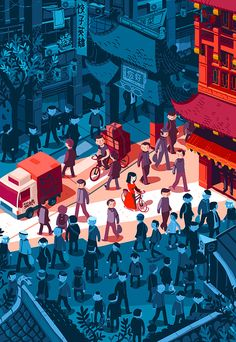VISIT FOR MORE A late afternoon in a Shanghai street. Illustration for Uzbek & Rica magazine. The post A late afternoon in a Shanghai street. Illustration for Uzbek & Rica magazine. appeared first on street. Art And Illustration, Illustrations And Posters, Graphic Design Illustration, Graphic Art, Website Illustration, Graphic Design Agency, Gfx Design, Design Ios, Grafik Design
