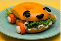 A bagel, turkey, veggies and a bit of creativity are all it takes to make this healthy and umirrific sandwich for lunch! #TeamUmizoomi #UmiCar  recipe: http://at.nick.com/18YVCWv