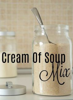 Homemade Cream of Soup Mix - 9 Ways to Make a Condensed Soup - Made From Scratch - Homemade Cream of Soup Mix! This recipe mix is so easy to make and easy to store so you don't hav - Homemade Dry Mixes, Homemade Spices, Homemade Seasonings, Homemade Soup, Cream Of Soup Mix Recipe, Recipe Mix, Cream Soup Base, Cream Soup Substitute, Cream Of Onion Soup