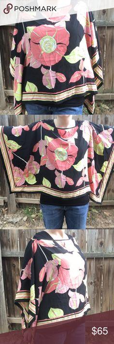 Trina Turk 93% Silk Floral Shawl One Size Trina Turk 93% Silk Floral Shaw One Size. Perfect Condition. Trina Turk Tops Blouses