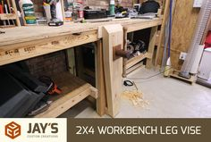 Leg vice to go with 2 x 4 workbench