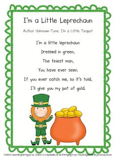 I'm a Little Leprechaun, cute poem