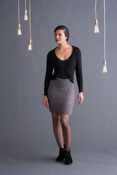 Smocked Skirt - Knitwear f12