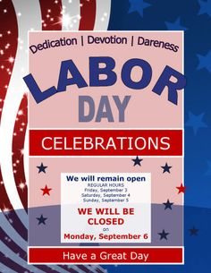 Labor Day Work Hours Notice Flyer Template