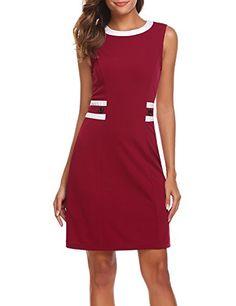 8669163ce47 Zeagoo Women s Elegant Patchwork Wear to Work Pencil Shea... Work Wear