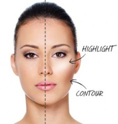 highlight and contour...will really try this one day.