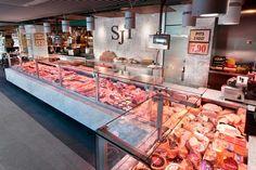 Proyecto realizado para el cliente Ibericus - San José Torras y diseñado por nuestro equipo profesional de interiorismo comercial Singular Shop Carnicerias Ideas, Protein Shop, Seafood Market, Butcher Shop, Deli, Steak, Retail, Chicken, Business