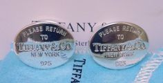 TIFFANY+AND+CO,+CUFF+LINKS+~+RETURN+TO+TIFFANY++~+PERFECT+~+READY+TO+WEAR+!+~+NWOT+~