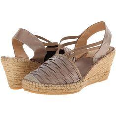 Vidorreta Logan Women's Wedge Shoes, Tan ($85) ❤ liked on Polyvore