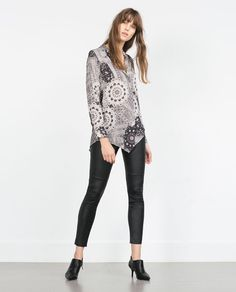 ZARA - NEW IN - PATCHWORK SHIRT