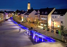Marketplace in Illertissen, Germany  #designed by Schegk