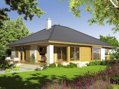Eris II (wersja C) - projekt domu - Archipelag Raised Bed Garden Design, Bungalow House Plans, Home Design Plans, Design Case, Log Homes, House Rooms, My House, Gazebo, Bali