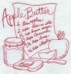 Apple Butter (Redwork)