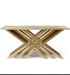"PIERO - CONSOLE W64"" X D18"" X H32"" SHOWN ANTIQUED GOLD LEAF BASE & HIGH GLOSS VELLUM TOP Gold Furniture, Unique Furniture, Table Furniture, Luxury Furniture, Painted Furniture, Furniture Design, Gold Interior, Interior Design, Modern Console Tables"