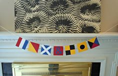 Custom Nautical Flag Paper Banner - Initials by HookedonArtsNCrafts on Etsy