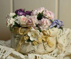 Anne's paper fun: Flower Basket - tutorial
