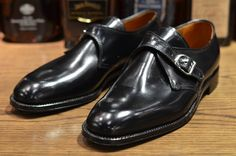 Alden Shoes – Plaza Monk Strap in Black Shell (LSW & LSBH)