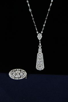 Pendant & Tiffany Diamond Necklace, ca. 1920  $30,000 Auction  –  $40,000 Auction