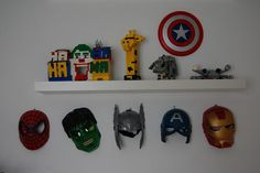 Boys super hero bedroom marvel avengers masks. Ha, I actually thought of this before I saw it here! Lol