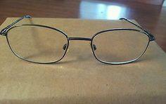 ALFRED SUNG Eyeglass Gunmetal Frames Italy 4435 Unisex