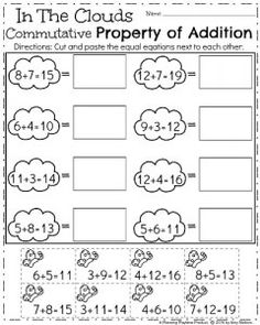 math worksheet : associative property of addition worksheet 3  addition properties  : Commutative Property Of Addition Worksheets 2nd Grade