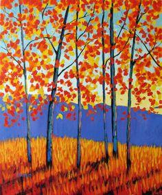 Autumn Aspen Grove Painting at ArtistRising.com
