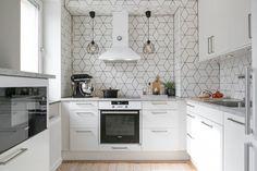Cozinha com azulejos em forma de diamante ~ Decoração e Ideias - casa e jardim