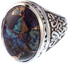 Azure Malachite Ring-- GORGEOUS!!!! Indian jewelry