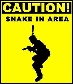 Caution! Snake in area.
