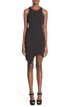 Free shipping and returns on Leith Stretch Crepe Tank Dress at Nordstrom.com. A stacked asymmetrical hem and keyhole racerback put a sassy twist on a stretch-knit tank dress.