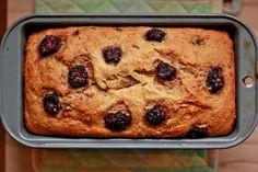 Vegan blackberry banana bread