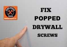 repair house Repair nail pops and holes in sheetrock: fast fixes with 5 minute joint compound Home Repair Tutor