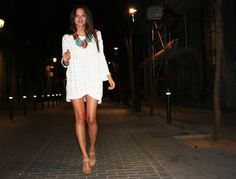 Summer bohemian white dress from Columbine Smille