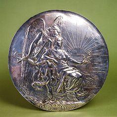 Medalla del Centenario Argentino 1910 - Ernesto de la Cárcova - Museo del Bicentenario