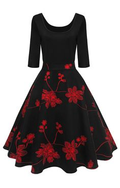 Best Vintage Dress to wear now!Femme fit and flare dress featuring an enchanting garden-inspired floral printed and u neck detail.Free Shipping Worldwide!