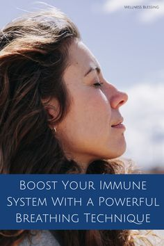 How to boost your immune system with a powerful breathing technique. Womens Wellness, Health And Wellness, How To Boost Your Immune System, Organic Lifestyle, Breathing Techniques, Self Care, Natural Health, Nutrition, Self Service