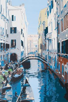 View Venice by Kris Mercer. A stunning original painting of Venice, Italy. Browse more art for sale at great prices. New art added daily. Buy original art direct from international artists. Shop now Venice Painting, City Painting, Painting Edges, Acrylic Painting Canvas, Paintings For Sale, Original Paintings, Original Art, International Artist, Stunning View