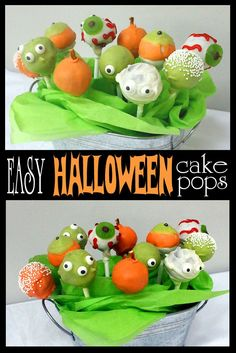 Step-by-Step Tutorial on how to make EASY Cake-Pops for Halloween! CUTE.  Butter with a Side of Bread #halloween