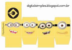 Convites Digitais Simples: Caixa Cubo Dupla com Personagens