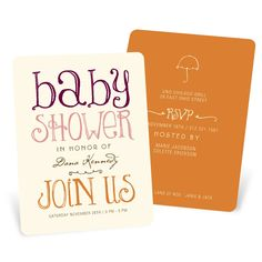 Whimsical Baby Shower Invitations -- Welcoming Color Block | Pear Tree Greetings