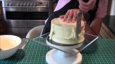 How to ganache a cake using the upside down method by Let's Eat Cake